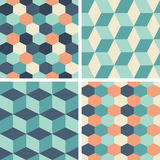 Vector seamless tiling patterns - geometric Royalty Free Stock Photography