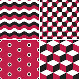 Vector seamless tiling patterns - geometric Stock Photos