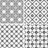Vector seamless tiling patterns - geometric Stock Photography