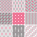 Vector seamless tiling patterns - geometric Stock Image