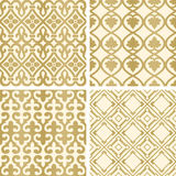 Vector seamless tiling patterns Royalty Free Stock Photos