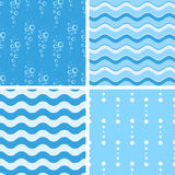 Vector seamless tiling patterns - nautical Royalty Free Stock Image