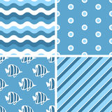 Vector seamless tiling patterns. Royalty Free Stock Images