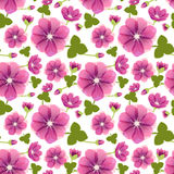 Vector seamless tiling patterns - romantic flowers Royalty Free Stock Image