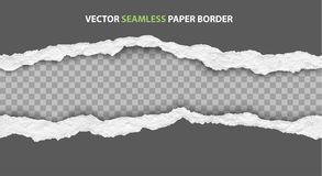 Vector seamless torn paper edges Stock Photo