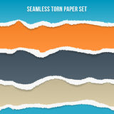 Vector seamless torn paper set Royalty Free Stock Image