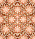 Vector seamless traditional brown wallpaper Stock Photos