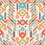 Vector Seamless Tribal Pattern. Ethnic Print Ornament Royalty Free Stock Image