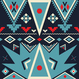 Vector Seamless Tribal Pattern Stock Image
