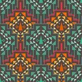 Vector Seamless Tribal Pattern Stock Image