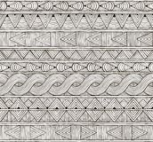 Vector seamless tribal pattern. Hand-drawn Stock Image