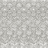Vector seamless tribal pattern. Hand-drawn Royalty Free Stock Images