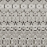 Vector seamless tribal pattern. Hand drawn Royalty Free Stock Photography