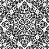 Vector seamless tribal pattern. Hand-drawn background. Royalty Free Stock Photo