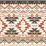 Vector Seamless Tribal Pattern in Red - Brown Colors Royalty Free Stock Images
