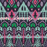 Vector Seamless Tribal Pattern in Scribble Style Royalty Free Stock Image