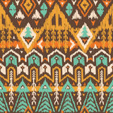 Vector Seamless Tribal Pattern in Scribble Style Royalty Free Stock Photo
