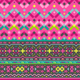 Vector Seamless Tribal Pattern for Textile Design Stock Image