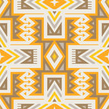 Vector Seamless Tribal Pattern for Textile Design Stock Photo