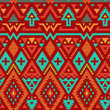 Vector Seamless Tribal Striped Pattern Stock Image