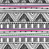 Vector seamless tribal texture Stock Photography