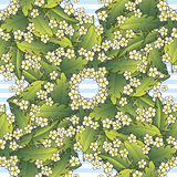 Pattern with palm and flowers Royalty Free Stock Photos
