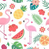 Vector seamless tropical pattern. Stock Image
