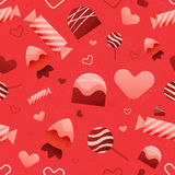 Vector Seamless Valentine's Day Pattern Stock Photos
