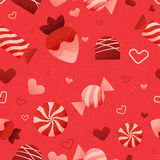 Vector Seamless Valentine's Day Pattern Royalty Free Stock Photo