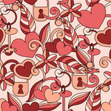 Vector Seamless Valentine's pattern Royalty Free Stock Photos