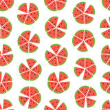 Vector seamless vector pattern with watermelon slices Stock Photography
