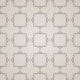 Vector seamless vintage background. Calligraphic Royalty Free Stock Photo