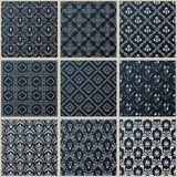 Vector seamless vintage backgrounds set black baroque Pattern Royalty Free Stock Images