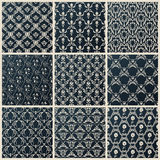 Vector seamless vintage backgrounds set black baroque wallpaper Royalty Free Stock Photography
