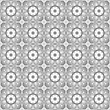 Vector Seamless Vintage Black and White Lace Pattern Royalty Free Stock Photos