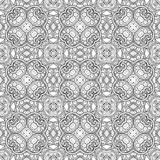 Vector Seamless Vintage Black and White Lace Pattern Stock Photo