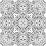 Vector Seamless Vintage Black and White Lace Pattern Royalty Free Stock Photo