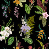 Vector seamless vintage floral pattern. Royalty Free Stock Photography
