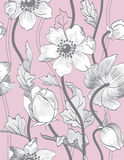 Vector seamless vintage floral pattern Stock Photos