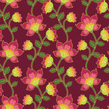 Vector seamless vintage floral pattern. Stock Photos