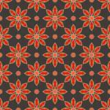 Vector seamless vintage floral pattern Royalty Free Stock Photo
