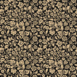 Vector seamless vintage floral pattern. Royalty Free Stock Images