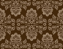 Vector seamless vintage floral pattern Stock Image