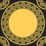 Vector seamless vintage gold Greek ornament (Meander) Royalty Free Stock Images