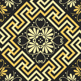 Vector Seamless vintage gold Greek ornament (Meander) Stock Photo