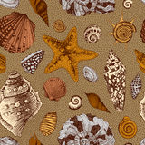 Vector seamless vintage pattern Royalty Free Stock Image
