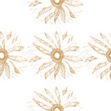 Vector seamless vintage pattern with cute flower Royalty Free Stock Photos