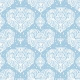 Vector seamless vintage pattern with hearts. Royalty Free Stock Photos
