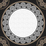 Vector seamless vintage white Greek ornament (Meander) Royalty Free Stock Images