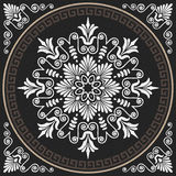 Vector seamless vintage white Greek ornament (Meander) vector illustration